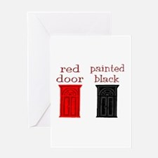 red door painted black Greeting Card