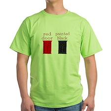 red door painted black T-Shirt