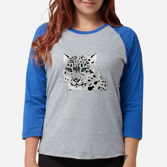 Beautiful Blue Eyed Snow Leopard Long Sleeve T-Shi