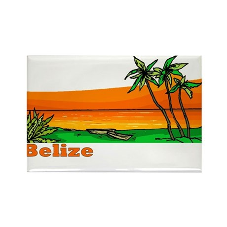 Belize Rectangle Magnet (10 pack)