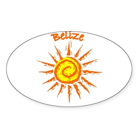 Belize Oval Sticker