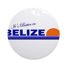 Its Better in Belize Ornament (Round)