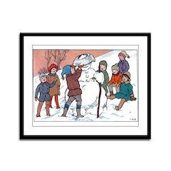 1930's Snow Fun #5 Framed Panel Print