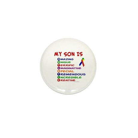 My Son Is Autistic Mini Button (10 pack)