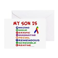 My Son Is Autistic Greeting Card