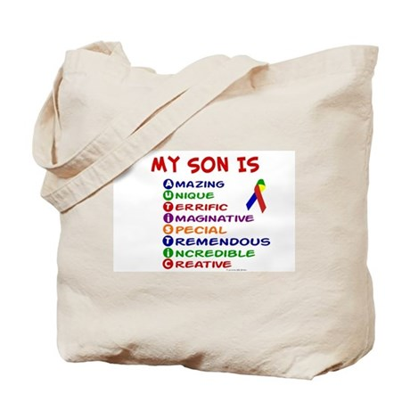 My Son Is Autistic Tote Bag