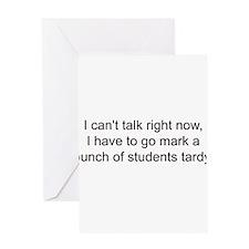 Cute Phys ed teacher Greeting Card