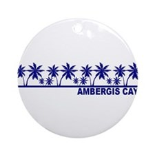 Ambergis Caye, Belize Ornament (Round)