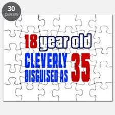 Cleverly Disguised As 35 Birthday Puzzle