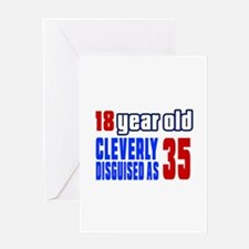 Cleverly Disguised As 35 Birthday Greeting Card