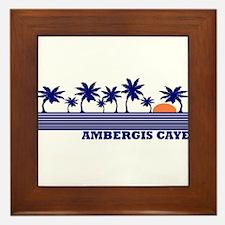 Ambergis Caye, Belize Framed Tile
