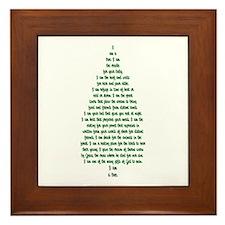 """""""I Am A Tree"""" Framed Tile"""