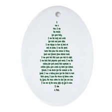 """I Am A Tree"" Oval Ornament"