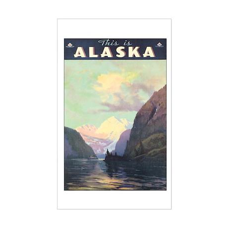 Vintage 1930s Alaska Travel Rectangle Sticker