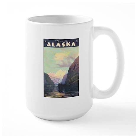 Vintage 1930s Alaska Travel Large Mug