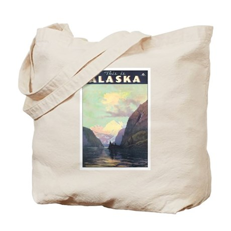 Vintage 1930s Alaska Travel Tote Bag