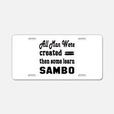 Some Learn Sambo Aluminum License Plate