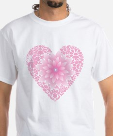 Pale Lotus Heart T-Shirt