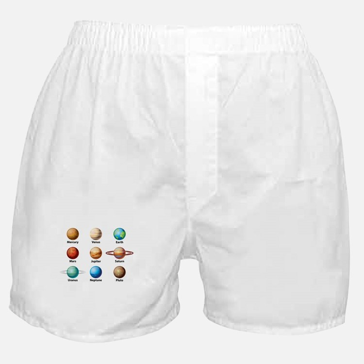 Planets Of The Solar System Boxer Shorts