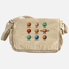 Planets Of The Solar System Messenger Bag