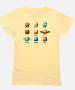 Planets Of The Solar System Girl's Tee