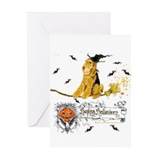 Halloween Airedale Greeting Card