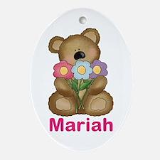 Mariah's Bouquet Bear Oval Ornament