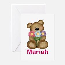 Mariah's Bouquet Bear Greeting Cards (Pk of 20)