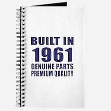 Built In 1961 Journal
