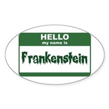 Frankenstein Oval Decal