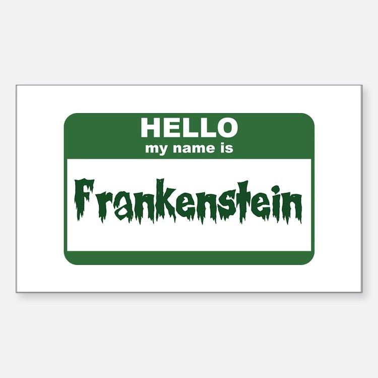 Frankenstein Rectangle Decal