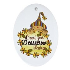Scarecrow Blessings Oval Ornament