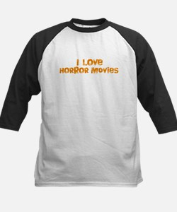I Love Horror Movies Kids Baseball Jersey