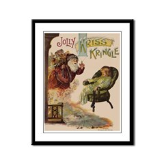 Kriss Kringle Framed Panel Print