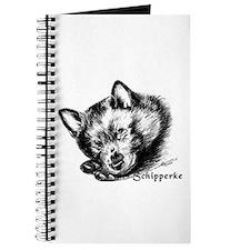 Sleeping Schip Pup Journal