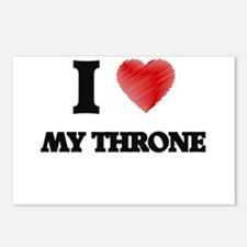 I love My Throne Postcards (Package of 8)
