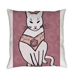 Rose Cat Everyday Pillow