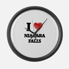 I love Niagara Falls Large Wall Clock