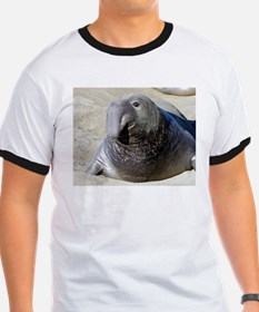 Elephant seal T - seals front & back!