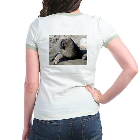 elephant seal Jr. Ringer T-shirt - front & back!