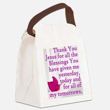 Funny Thank you jesus Canvas Lunch Bag