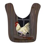 Rooster in the Window Bib