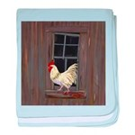 Rooster in the Window baby blanket