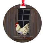 Rooster in the Window Ornament