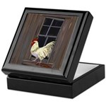 Rooster in the Window Keepsake Box