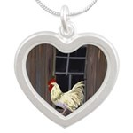Rooster in the Window Necklaces