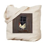Rooster in the Window Tote Bag