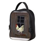 Rooster in the Window Neoprene Lunch Bag