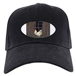 Rooster in the Window Baseball Hat