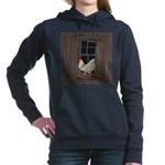 Rooster in the Window Women's Hooded Sweatshirt